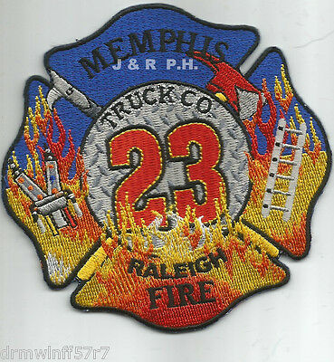 """4/"""" x 4/"""" size Tennessee Memphis  Truck-23  /""""Raleigh/"""" fire patch"""