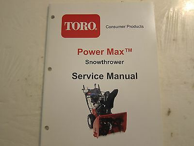 Toro Power Max Snowthrower Snow Blower Service Shop Manual LOTS More Listed