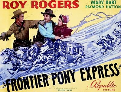 8x10 Poster Roy Rogers Frontier Pony Express 1939 #872444