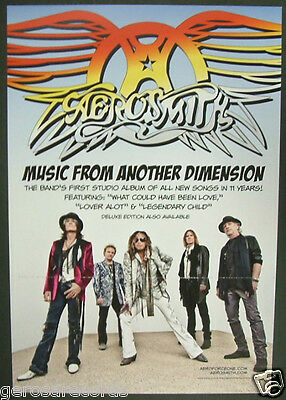 AEROSMITH Music From Another Dimension PROMO POSTER FLAT