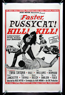 FASTER PUSSYCAT ! KILL ! KILL ! * CineMasterpieces MOVIE POSTER 1965 RUSS MEYER