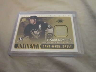 MARIO LEMIEUX 2002-03 Pacific Quest For The Cup Jersey #17 MINT Gold Swatch
