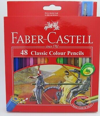 Faber Castell Classic Colour Pencils W Sharpener 48/Pack 115858*