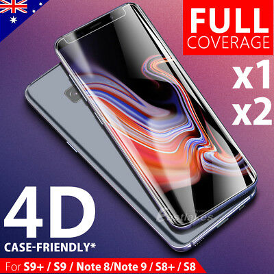 Galaxy S9 S8 Plus Note 9 8 4D Full Cover Tempered Glass Screen Protector Samsung