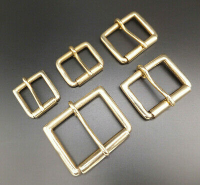"""HEAVY DUTY [ 1""""  - 2"""" ] 320 STRONG SOLID BRASS SINGLE ROLLER BUCKLE 5 Sizes"""
