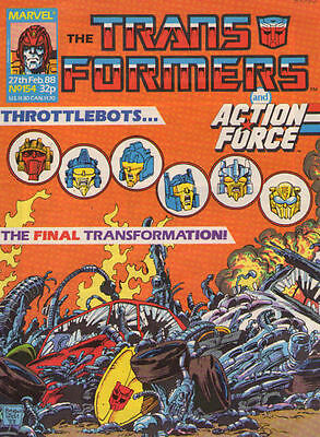 TRANSFORMERS #154 - 1988 - Marvel Comics Group UK