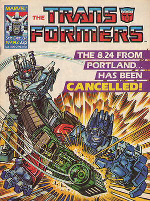 TRANSFORMERS #142 - 1987 - Marvel Comics Group UK