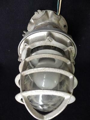 Vintage Explosion Proof Industrial Steampunk Cage Light Fixture 3103-14