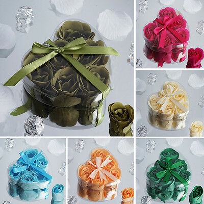 300 GIFT Boxes with HEART ROSE PETALS SOAPS Wedding Party FAVORS Wholesale Lot