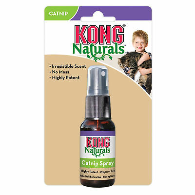 KONG Naturals CATNIP SPRAY for Cats 1 Fluid oz - Adds Life to Old Toys (CCS)