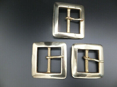 """1 x HEAVY DUTY  SOLID CAST BRASS SQUARE BELT BUCKLE  3/4""""  - 2"""" you select"""