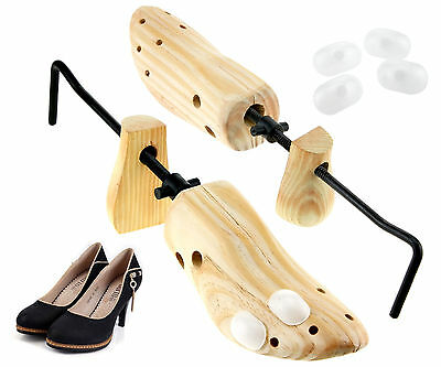Pair High Quality Pine Wood Tree Stretcher Wooden UK Size 4-7 Ladies' Shoe Shape