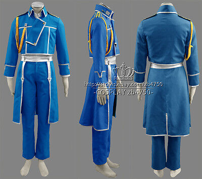 Fullmetal Alchemist Roy Mustang Cosplay Costume Any Size