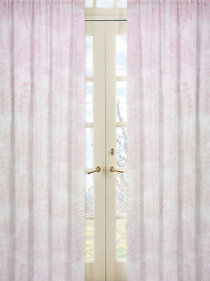 Sweet Jojo Designs Pink Toile Girl Kid Window Treatment Panels Curtains Covering