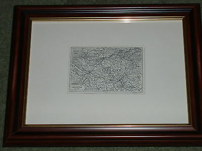 Print circa 100 yrs old Map of Cheshire