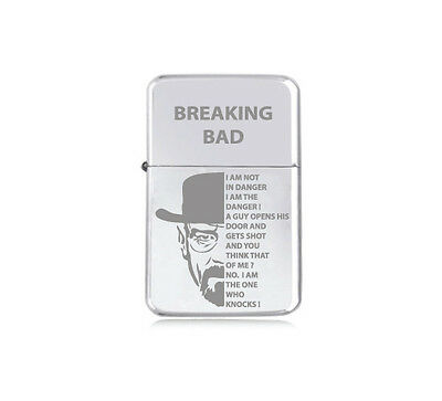★STAR★ HEISENBERG BREAK LIGHTER engraved silver black pink gold BREAKING BAD