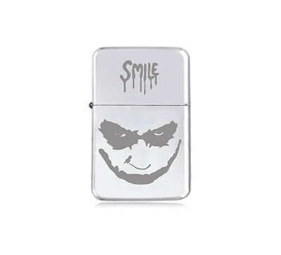★STAR★ JOKER SMILE engraved LIGHTER silver black pink gold MARVEL DC VILLAIN