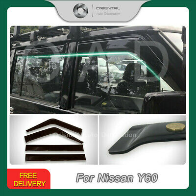 Premium Weathershields Weather Shields Window Visors Patrol GQ 88-97 Auto miror