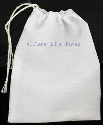 1 x WHITE COTTON BAG -  MOJO BAG  - SPELL BAG Wicca Pagan Witch Goth Spell
