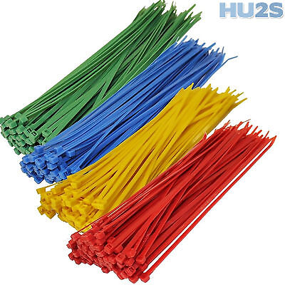 CABLE TIES - Plastic Nylon Zip All Size/Colour Blue Red Green Yellow White Black