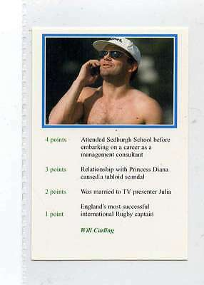 (Jm601-100) RARE,Video Guest ,Will Carling ,Rugby 1999 MINT