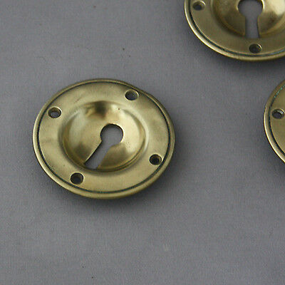 Large Round Antique Victorian Recessed Escutcheons