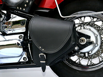 (B2) Harley-Davidson Softail Leather Swingarm Pannier Saddle Bag Single Side