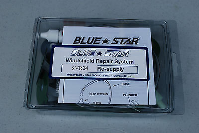 Windshield Repair Kit / System Svr24 Re-Supply System Glass Repair By Blue Star