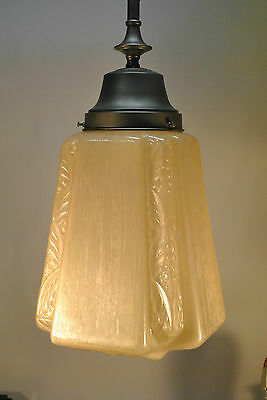 Art Deco Single Globe Chandelier Light Fixture