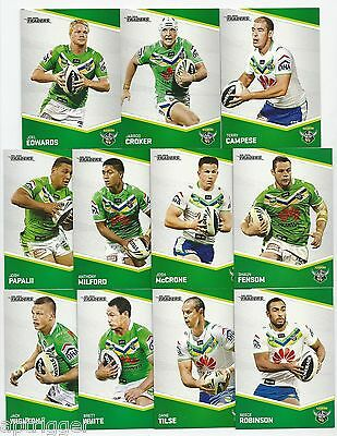 2014 NRL Traders RAIDERS Base Team Set