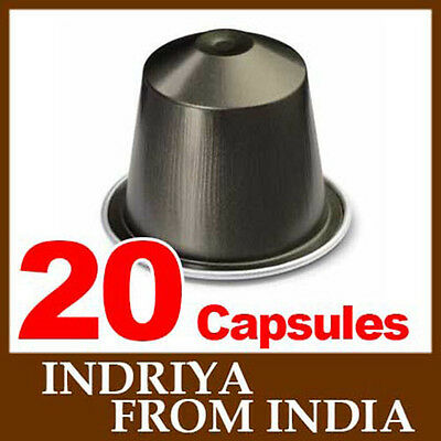 20 INDRIYA FROM INDIA Nespresso Coffee Capsules *FRESH NEW SEALED*