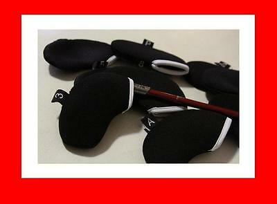 Black Tag Golf Iron Cover Head Covers X 10 - Over 5000 Feedback Super Sale