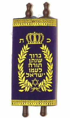 Small Hebrew Sefer Torah Scroll Book Jewish Israel Holy Bible Pentateuch,Judaica