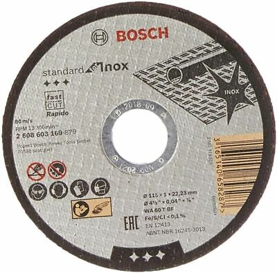 "Bosch 115mm ( 4.5"" ) x 22.23 x 1mm Thin Metal Inox Fast Cutting Disc -2608603169"