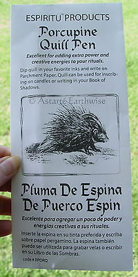 PORCUPINE QUILL PEN Wicca Witch Pagan Goth Spells
