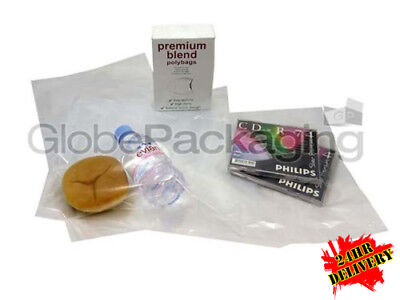 "1000 x Clear Polythene Food Use Bags 10"" x 15"" 100g - 255mm x 375mm *OFFER*"