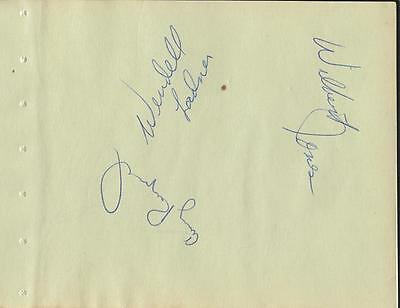 Wendell Ladner + 7 Signed Vintage Album Page Southern Miss Memphis Pros