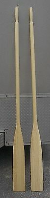 """NEW 6' Pair Paddles OARS 72"""" Boat Wooden Ready To Use"""