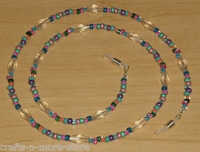Carnival Confetti Crystal Bead Mix Eyeglass Chain