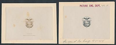 Panama Arms & Flag Die Essay On Cards (2) Diff. Br2315 Hsfp
