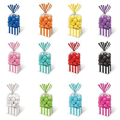 10 Striped Stripes Candy Buffet Sweet Treat Loot Party Supplies Favor Bags