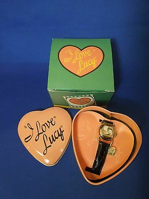 """""""I Love Lucy"""" Fossil Wrist Watch in Heart Tin Limited Edition 3079/10,000 w CoA"""