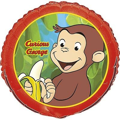 "18"" Curious George Childrens Birthday Party Mylar Foil Balloon"