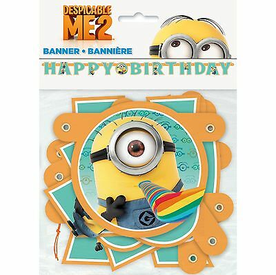 75in Despicable Me 2 Movie Birthday Party Cutout Jointed Letter Banner