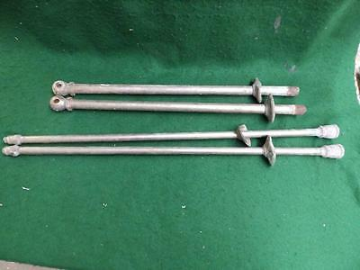 Vintage Nickel Brass Tub Sink Feed Lines Set Antique Plumbing Bathroom 3140-14