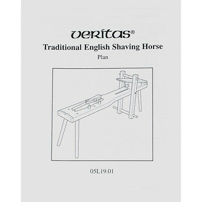 Veritas Traditional English Shaving Horse Plan AP476858 05L19.01