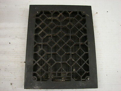 Antique Late 1800's Cast Iron Heating Grate Unique Ornate Design 14 X 10.75