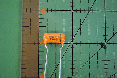 SPRAGUE CAPACITOR Orange Drop .0022uf 100v 10% 225P22291WD3 .0022mfd AUDIO x25