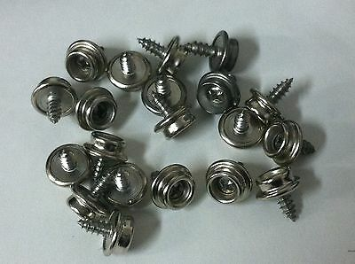 """10 Marine Canvas Cover Stainless Steel Screw in Canvas Snap Studs 3/8"""" Boat snap"""