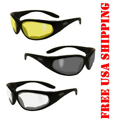 Global Vision Motorcycle Eva Foam Riding Glasses Hercules Plus No-Fog Sunglasses